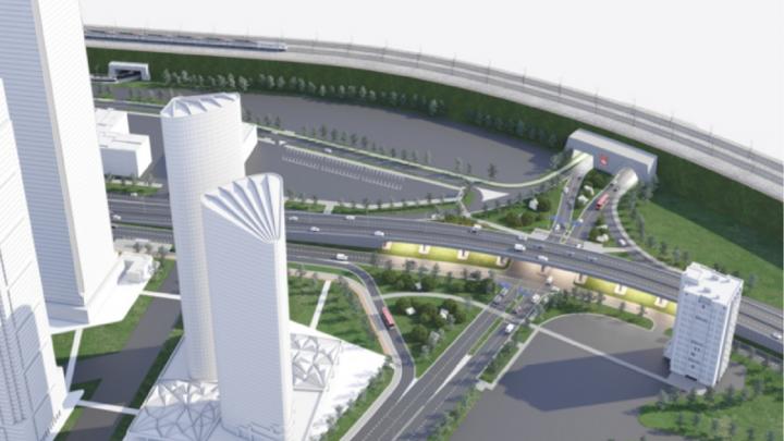 У площади Гайдара в Перми планируют построить новую эстакаду
