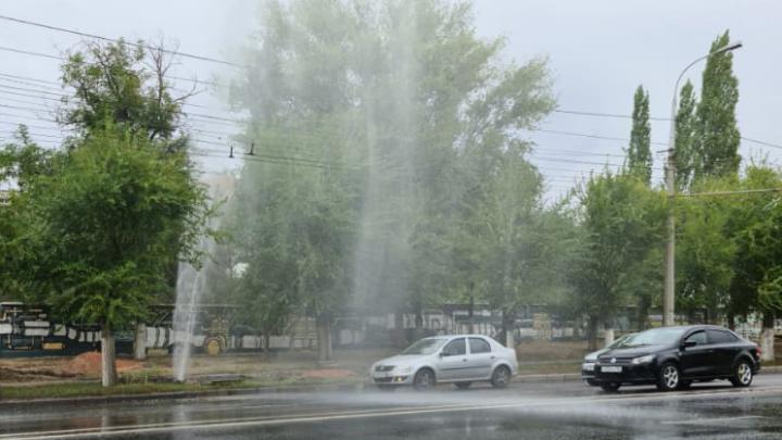 В Волгограде пятиметровый фонтан загнали под землю