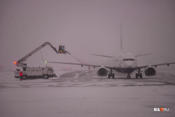Вынужденную посадку в Кольцово этим утром совершили сразу два самолета