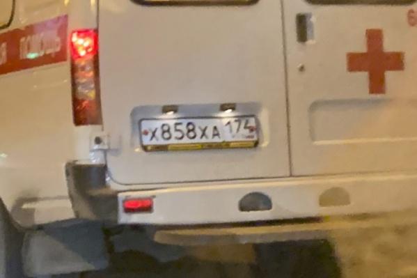 После того, как произошёл инцидент, фото машины скорой с номерами выложили в соцсети
