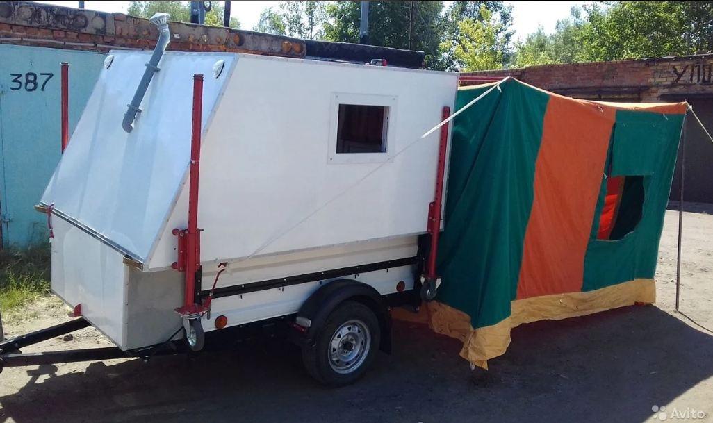 Тент оснащён польской палаткой