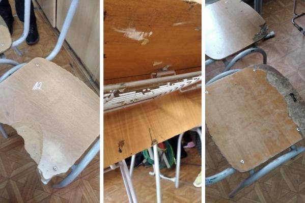 Мебель попробуют отремонтировать, но родители убеждены, что нужно покупать новую