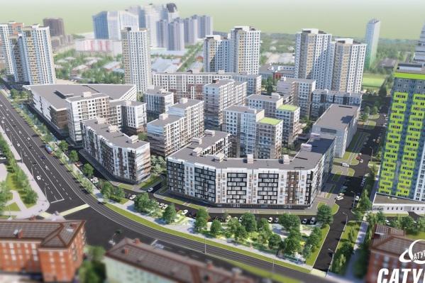 «Арсенал» — огромный жилой квартал вдоль улицы Героев Хасана