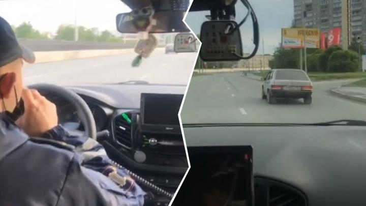 «Пробиты колеса, пробиты!» Публикуем видео погони со стрельбой, снятое из патрульной машины ГИБДД