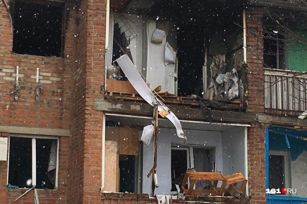 Газ рванул в 11-й квартире трехэтажного дома