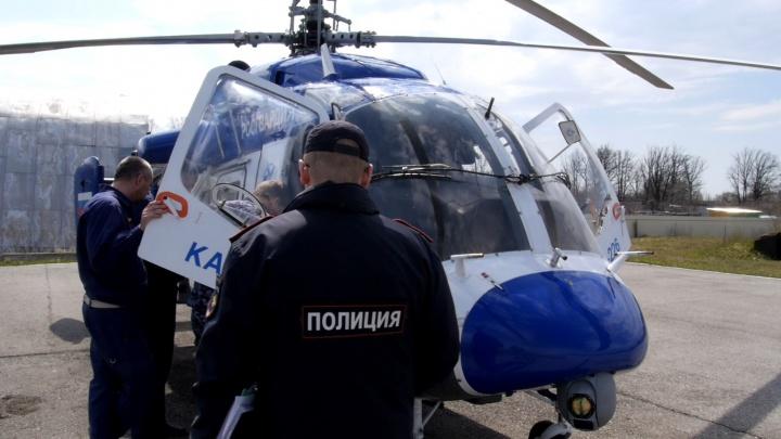 Нижегородские полицейские охотятся на нарушителей режима самоизоляции с вертолетов