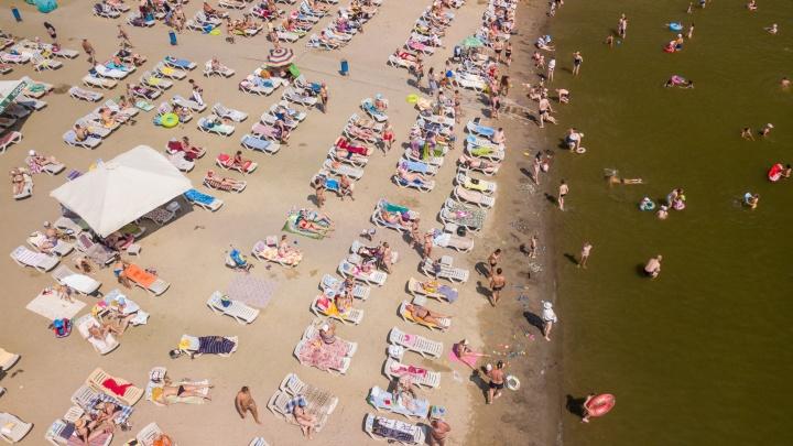Улётное видео: смотрим на челябинский пляж с высоты птичьего полёта