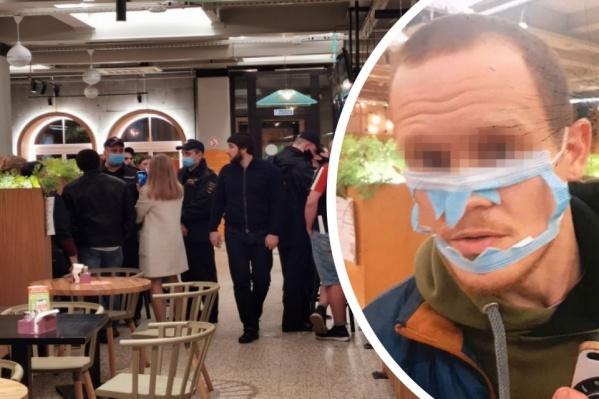 На днях в ресторан самообслуживания вызвали полицию на буйного посетителя
