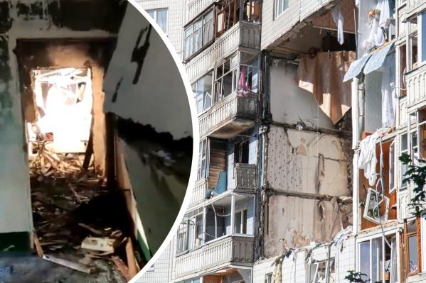 Печальные кадры из разрушенного взрывом дома