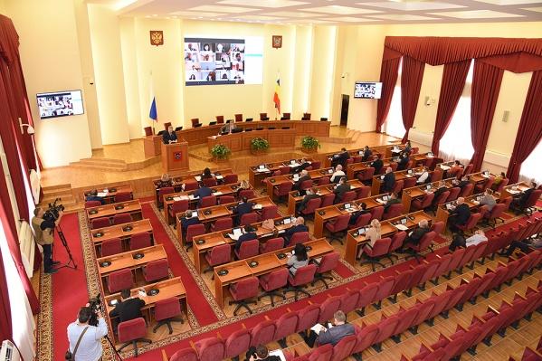 Индексацию рассмотрят на следующем заседании регионального парламента