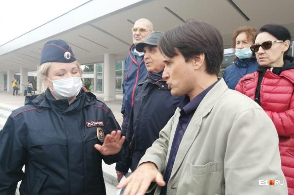 К активистам пришла полиция