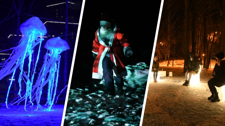 Медузы, лес, много света и игра фантазии: смотрим работы фестиваля «Не темно» в Екатеринбурге