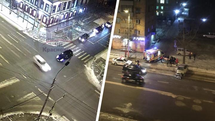 Водитель разогнался по ночному городу и на Карла Маркса влетел в столб