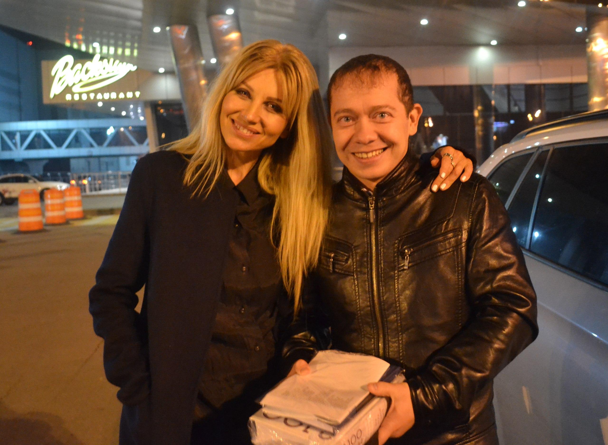 С подругой и звездой Ириной Нельсон