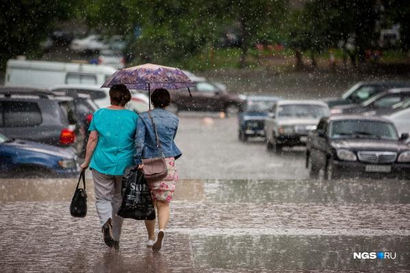 В субботу будут дожди и грозы по всему региону, а в воскресенье осадки сохранятся только на юге