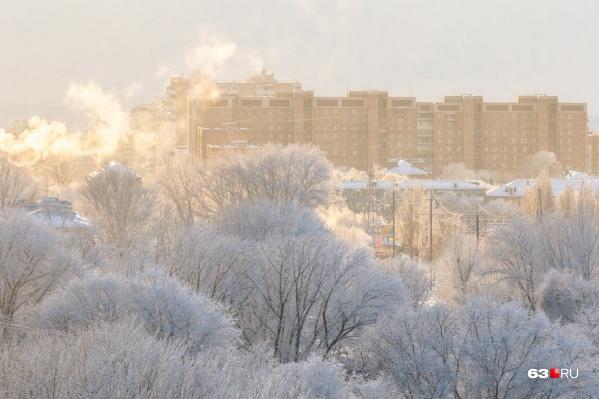 Декабрь в Самарской области начался с аномальных морозов