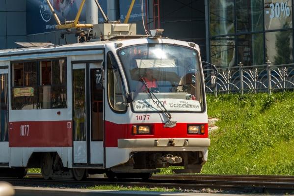 Трамваи № 20к будут ходить до завода Тарасова