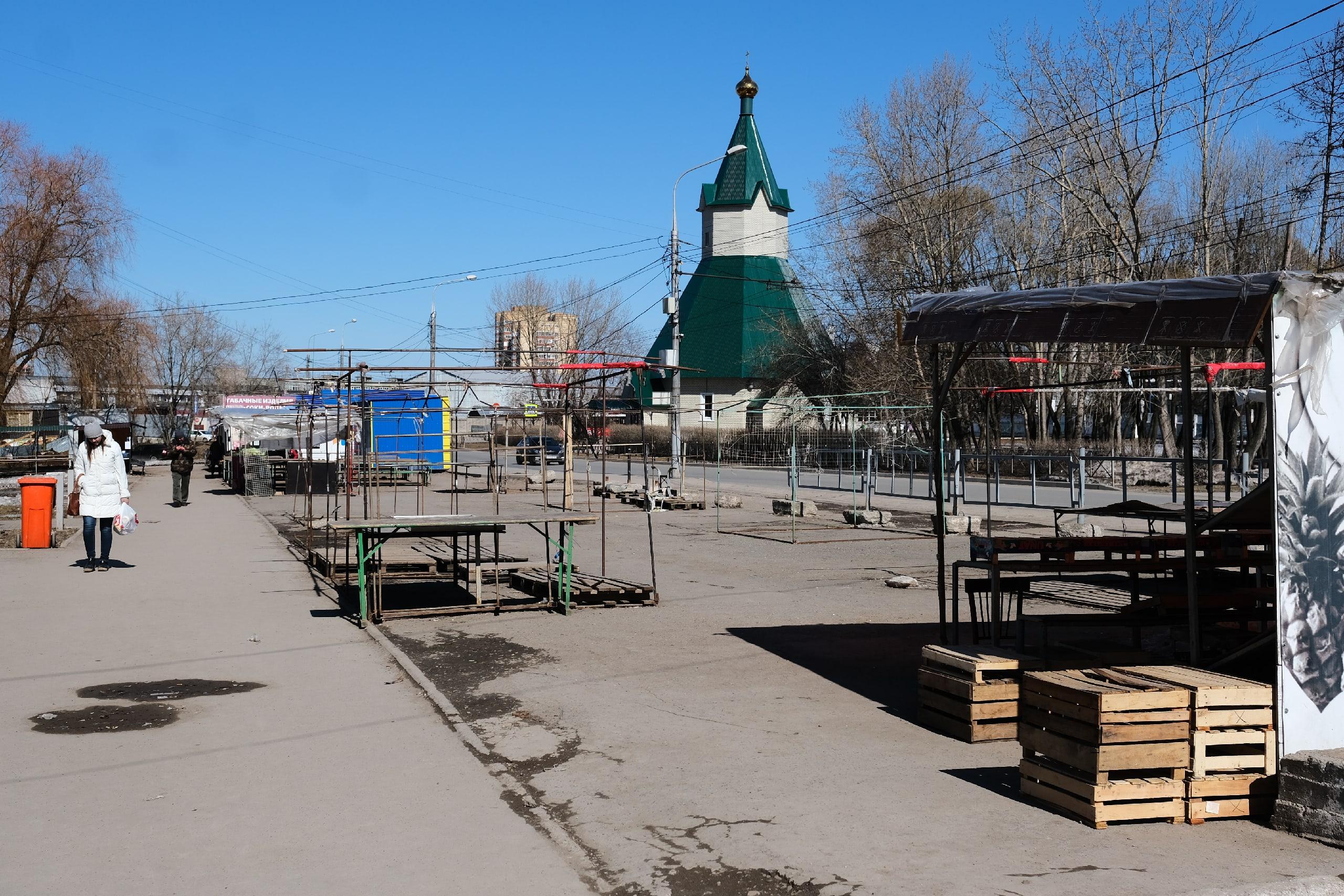 И мини-рынок пустой
