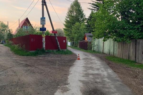 Авария произошла в садовом обществе под Новосибирском