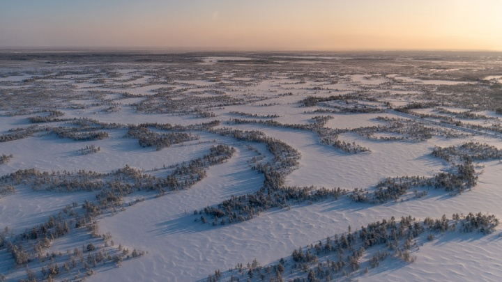 Как выглядит зимняя Сибирь с высоты: 8 завораживающих кадров