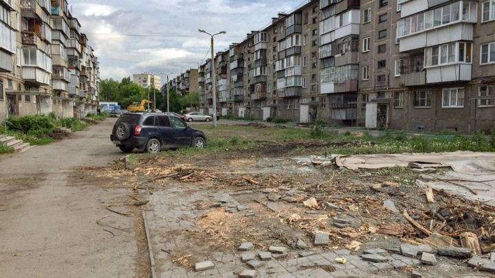 Челябинская управляйка, вырубившая деревья во дворе, избежала штрафа и разбирательств с полицией