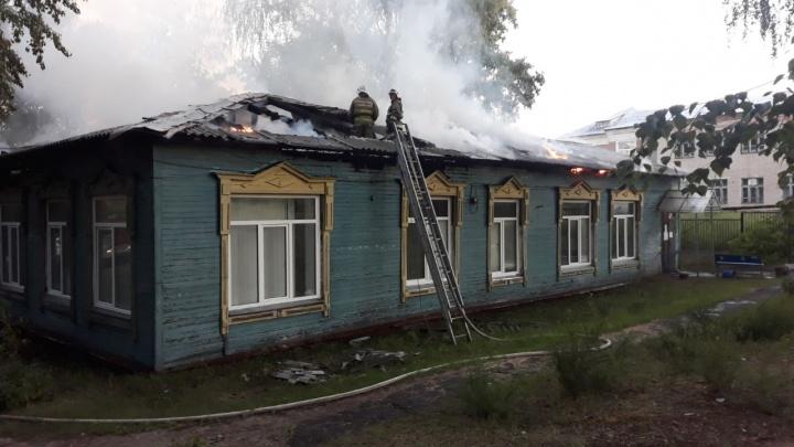 В Борском районе сгорела поликлиника