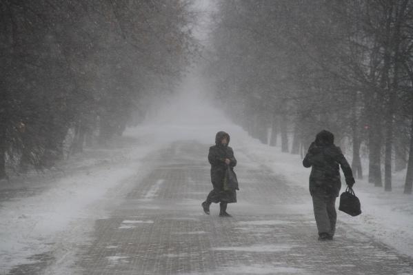 По прогнозу синоптиков, снег будет идти всю неделю