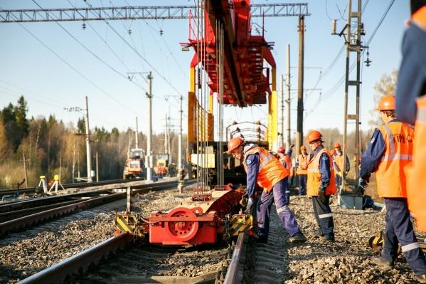 Движение поездов при закрытии перегонов осуществляется по соседнему пути