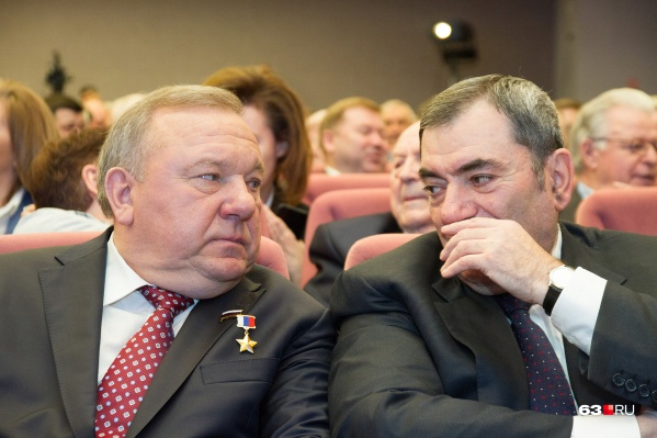 Леонид Михельсон (справа) оказался самым богатым депутатом от Самарской области