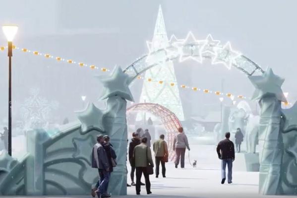 Городок собираются открыть через три недели