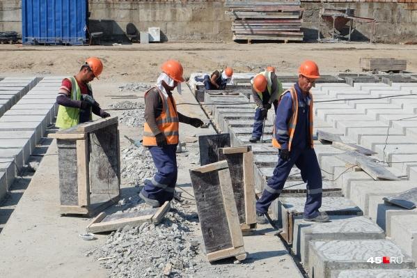 Строительство моста ЖБИ идет полным ходом
