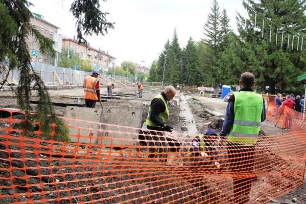 Работы в Советском парке далеки от завершения