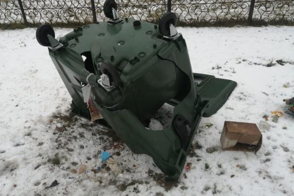 В Зауралье продолжают атаковать мусорные баки
