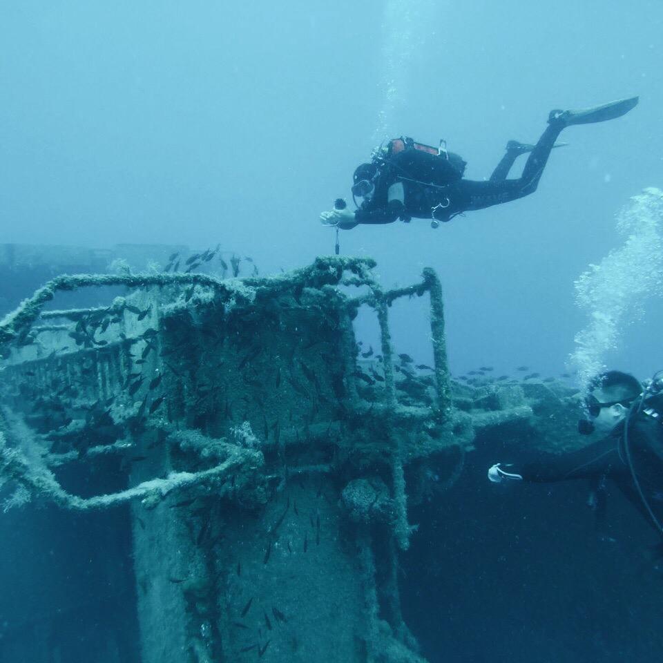 Во время сафари-погружений самое интересное — исследовать затонувшие корабли