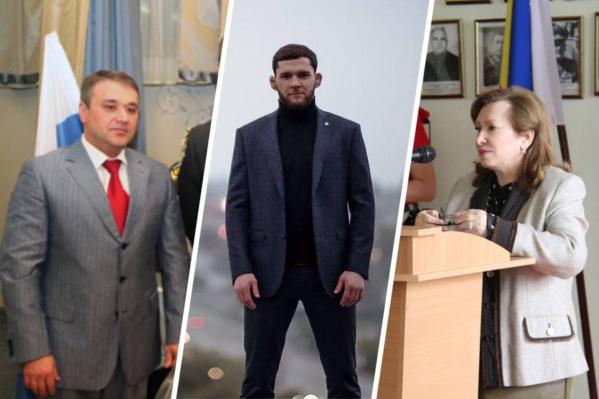 """На фото те, кто прошел в гордуму <i class=""""_"""">(слева направо)</i>: Магомед Дарсигов, Александр Шаблий и Зинаида Неярохина"""