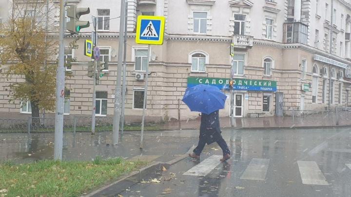 Вслед за севером области: в Екатеринбурге дождь перешел в снег