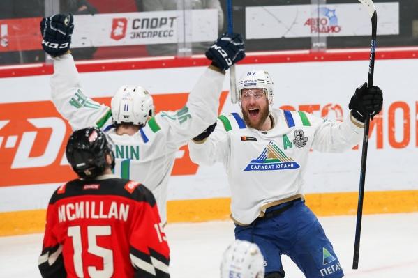 Уфимская команда рада победе: 2:3 в пользу «Салавата Юлаева»