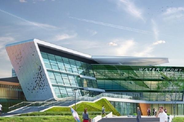 Это один из объектов Игр, Дворец водных видов спорта