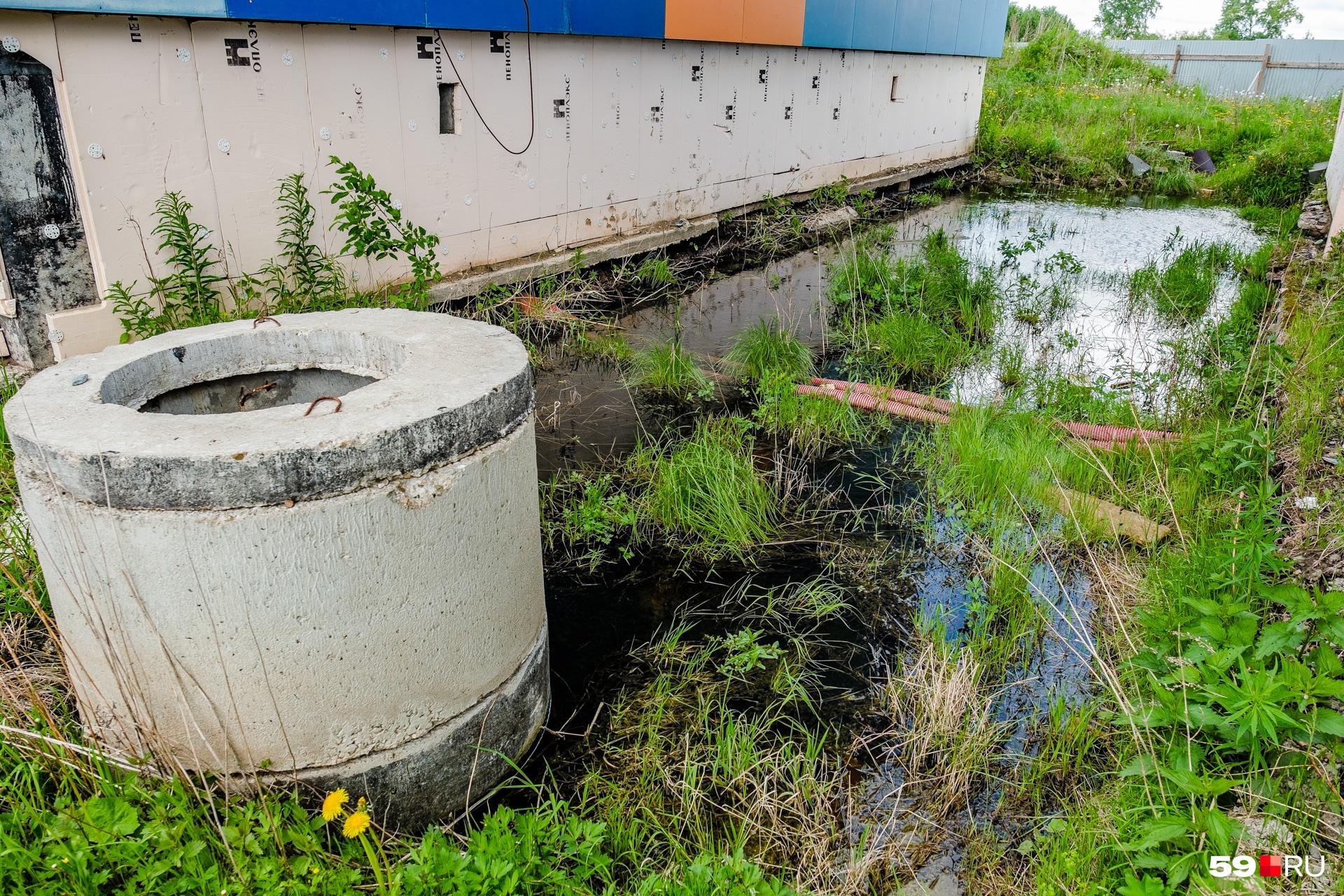 Фото сделано в июне этого года. Рядом с домами даже в сухую погоду стоит вода