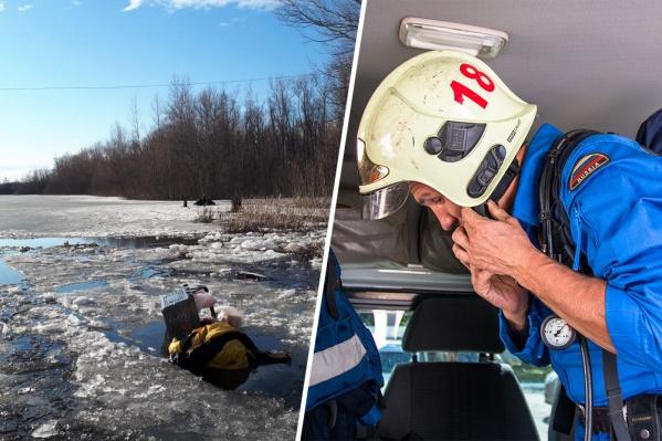 Спасатели нашли вещи пропавшего на льду и поняли, что он утонул