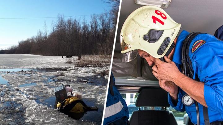 В Новокуйбышевске мужчина провалился под лед по пути на работу