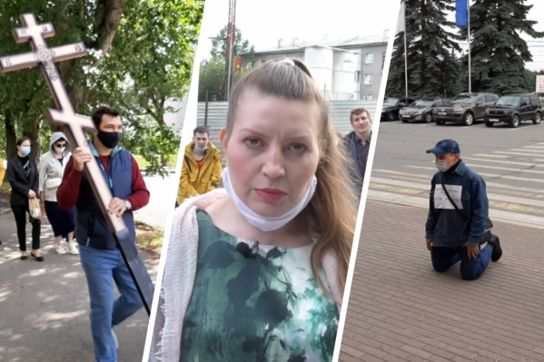 Яковлева вместе с другими активистами провела несколько ярких акций протеста