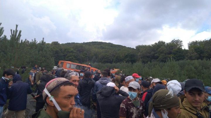 Активисты Куштау смогли прорваться на место своего бывшего лагеря