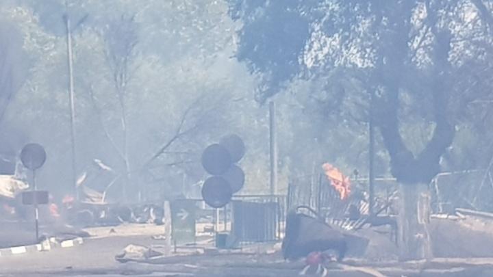 В результате взрыва на заправке пострадали четыре человека