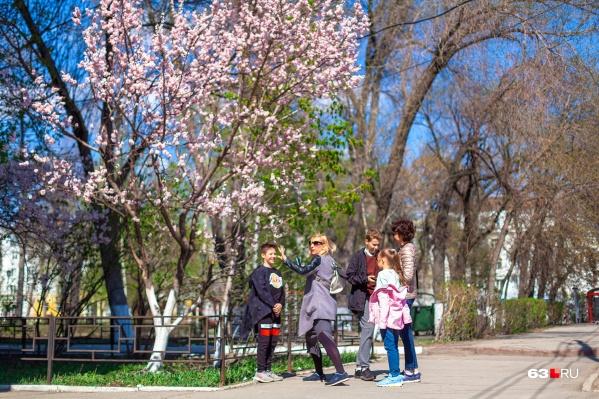 Жители Самарской области надеются, что побыть вдоволь на свежем воздухе весной еще разрешат