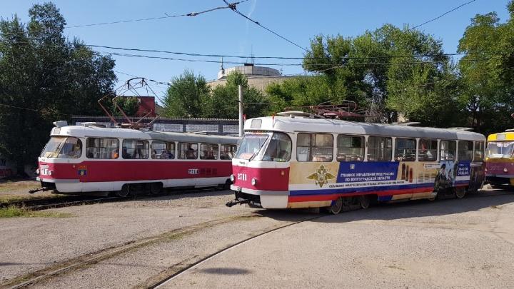 «Собирается пробка»: в центре Волгограда остановились трамваи
