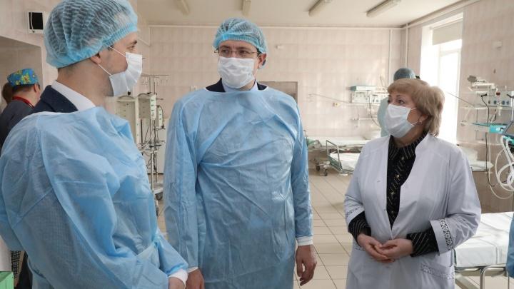 Глеб Никитин проверил больницу № 5 — она сможет принять 500 нижегородцев с коронавирусом