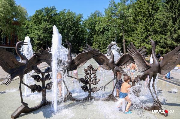 Вероятно, жителям придется спасаться от зноя в фонтанах