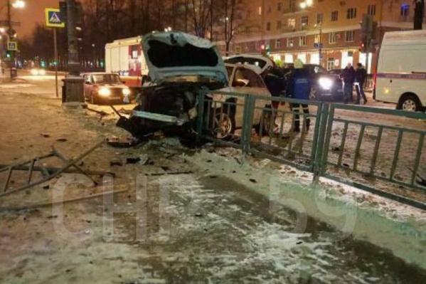 Авария произошла вчера вечером