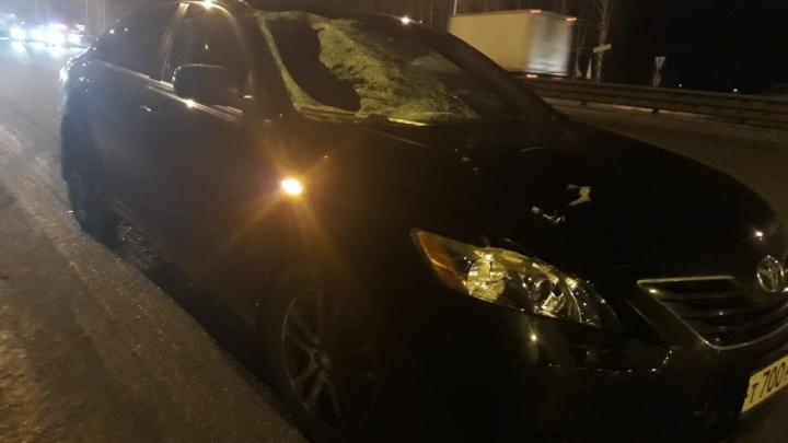 Toyota Camry на пешеходном переходе Полевского тракта сбила мужчину, он погиб на месте